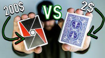 Sự khác nhau giữa bài ảo thuật với bộ bài thường
